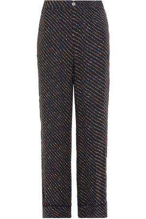 Ganni Woman Mullin Printed Georgette Straight-leg Pants Size 34