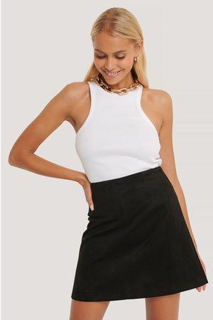 NA-KD Mini Suede Skirt - Black