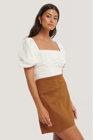 NA-KD Mini Suede Skirt - Beige