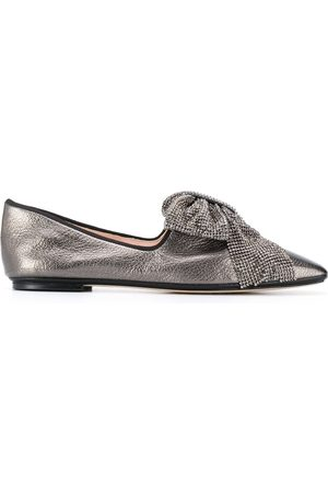 RODO Women Loafers - Square toe bow-detail loafers