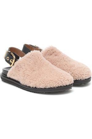 Marni Fussbett shearling slippers