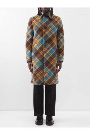 Prada Tartan Wool Overcoat - Mens - Multi