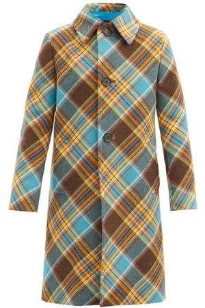 Prada Tartan Wool Overcoat - Mens