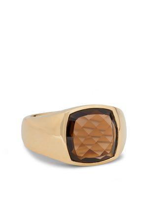 TOM WOOD Men Rings - Shelby 9-Karat Smoky Quartz Signet Ring