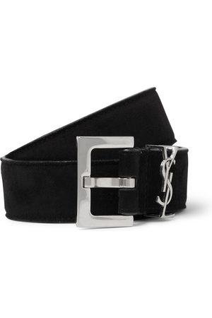 Saint Laurent Men Belts - 3cm Suede Belt