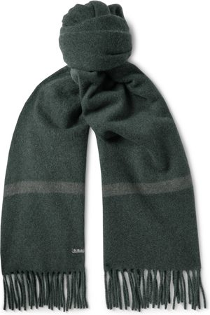 Loro Piana Men Scarves - Fringed Striped Baby Cashmere Scarf