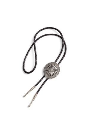RRL Braided Leather Bolo Tie