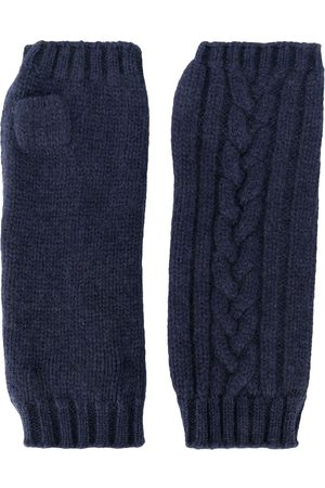 PRINGLE OF SCOTLAND Fingerless cable-knit gloves