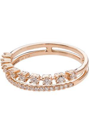 Dana Rebecca Designs Women Rings - 14kt rose gold Ava Bea double-row ring