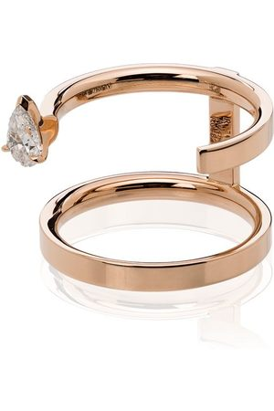 Repossi Serti Sur Vide 18kt rose diamond ring