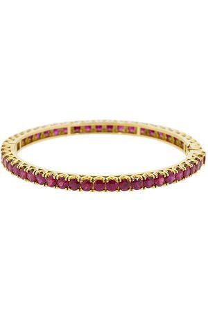 BAYCO 18kt gold ruby bangle