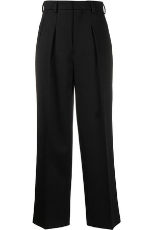 AMI Paris Women Formal Trousers - Straight-leg tailored trousers