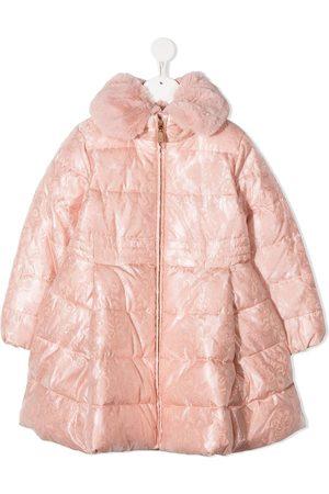 Abel & Lula Faux-fur collar padded coat