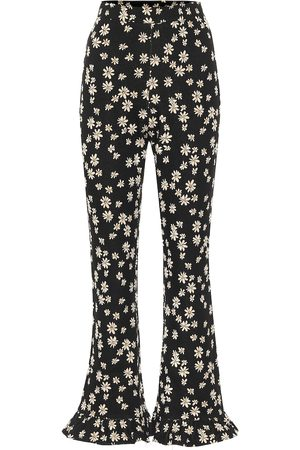 Miu Miu Floral high-rise flared pants