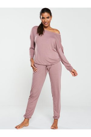 Very Off The Shoulder Slouchy Pj Set
