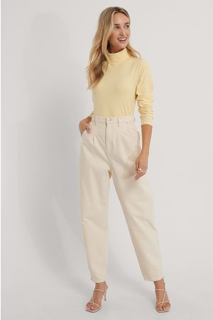 The Fashion Fraction x NA-KD Turtle Neck Top - Yellow