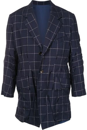 Sulvam Checked single-breasted blazer