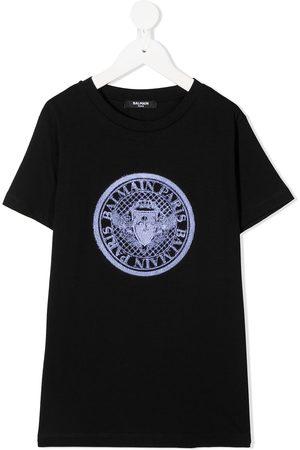 Balmain Logo patch T-shirt