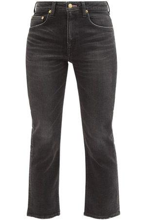 TU ES MON TRESOR Tu Es Mon Trésor - Rose Quartz Cropped Cotton Slim-leg Jeans - Womens