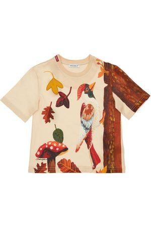 Dolce & Gabbana Girls T-shirts - Nature Printed Cotton Jersey T-shirt