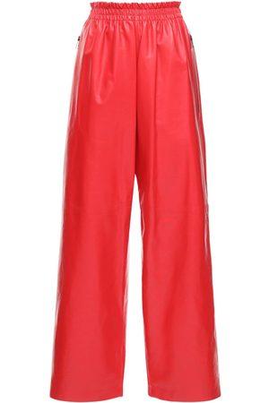 Bottega Veneta Leather Straight Pants