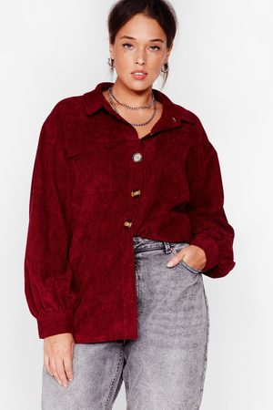 NASTY GAL Womens Big Cord And Beautiful Plus Oversized Shirt - - 22