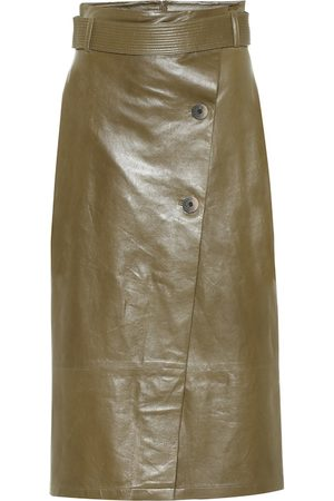 Zeynep Arcay Leather wrap skirt