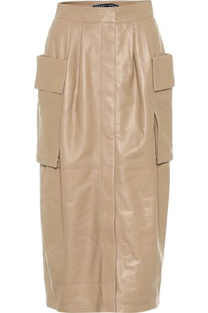 Zeynep Arcay Leather cargo midi skirt