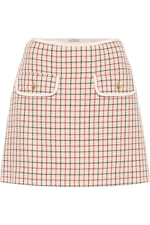 Miu Miu Women Mini Skirts - Checked virgin wool miniskirt