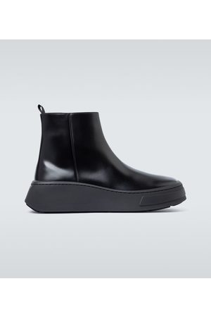 Prada Thick sole leather Chelsea boots