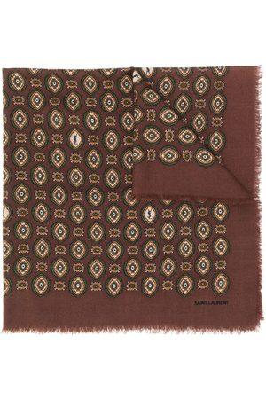 Saint Laurent Bandana print frayed scarf