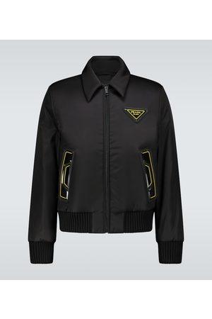 Prada Rubber logo bomber jacket