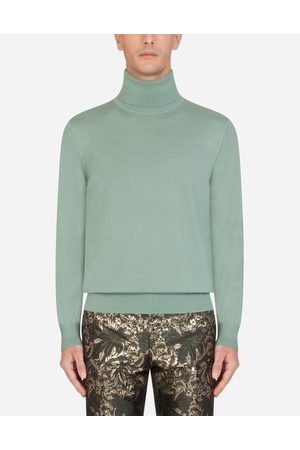 Dolce & Gabbana Knitwear - CASHMERE TURTLE-NECK SWEATER