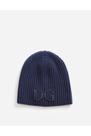 Dolce & Gabbana Hats and Gloves - WOOL HAT WITH DG EMBROIDERY