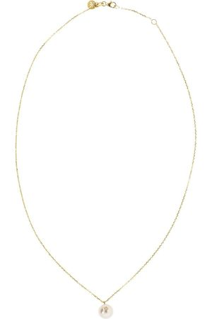 Kat Kim 18kt yellow gold Oasis diamond pearl pendant necklace