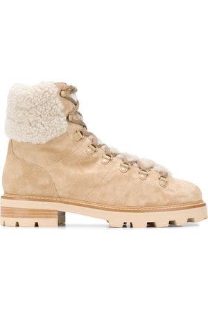 Jimmy Choo Eshe shearling hiking boots - Neutrals