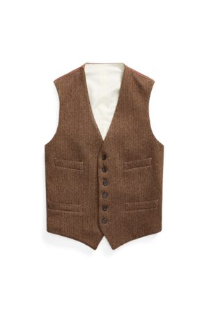 Polo Ralph Lauren Men Blazers - Herringbone Wool-Blend Waistcoat