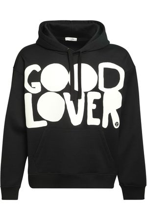 VALENTINO Good Lover Print Cotton Hoodie