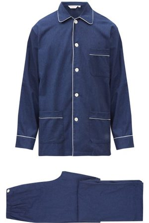 DEREK ROSE Balmoral Brushed-cotton Pyjama Set - Mens