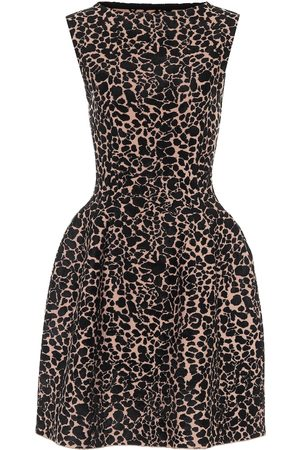 Alaïa Printed stretch-crêpe minidress