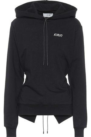 Kirin Open-back cotton hoodie