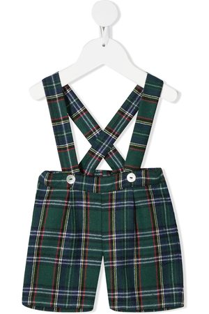 SIOLA Check dungaree shorts