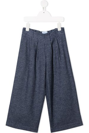 SIOLA Houndstooth wide-leg trousers