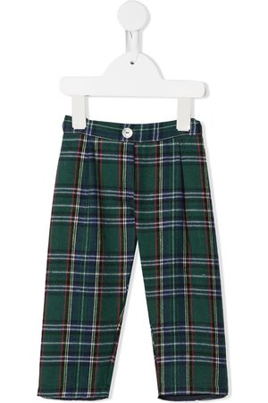 Siola Trousers - Check pattern pull-on trousers