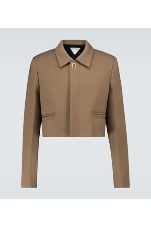 Bottega Veneta Cropped stretch-twill jacket