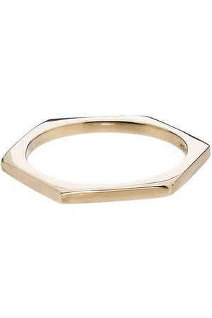 LOREN STEWART 14kt hexagon ring