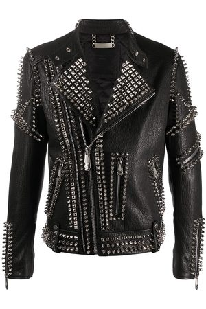 Philipp Plein Studded doberman biker jacket