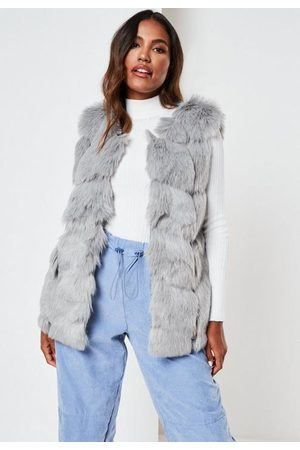 Missguided Faux Fur Bubble Gilet