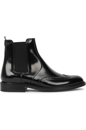 Saint Laurent Army Glossed Leather Chelsea Boots