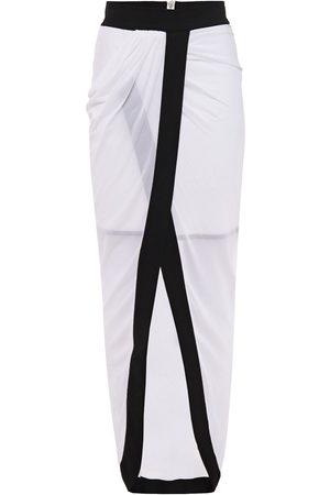 Balmain Women Mini Skirts - Woman Wrap-effect Stretch-jersey Skirt Size 36